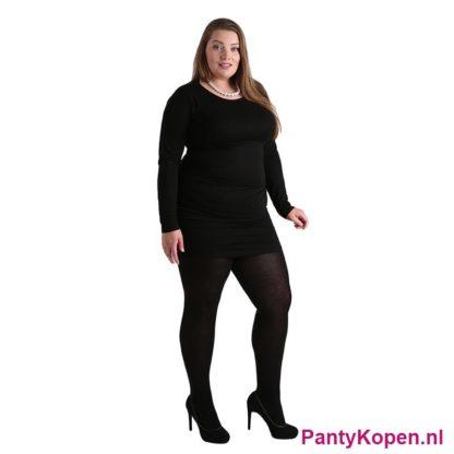 Plus Size 140 DENIER Microfibre Panty zwart