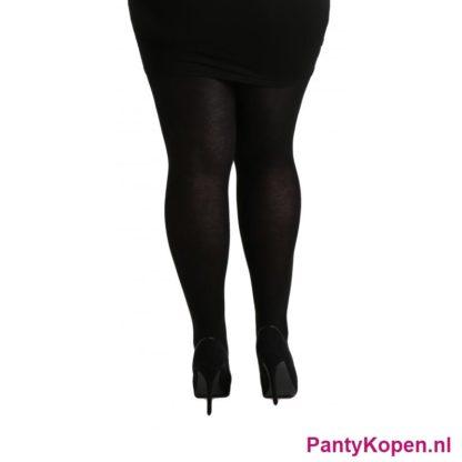 Plus Size 140 DENIER Microfibre Panty zwart Pamela Mann