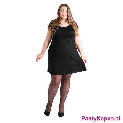 Plus Size 15 DENIER Sheer Panty zwart Pamela Mann