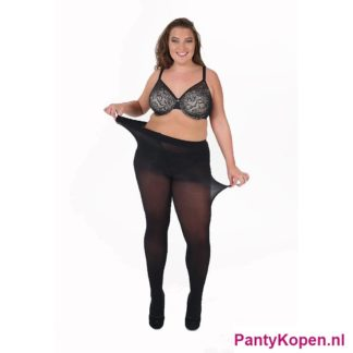 Plus Size 50 DENIER Curvy Super stretch Panty zwart