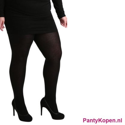 Plus Size 90 DENIER Curvy Super stretch Panty zwart Pamela Mann